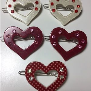 Heart Hair Clip Set